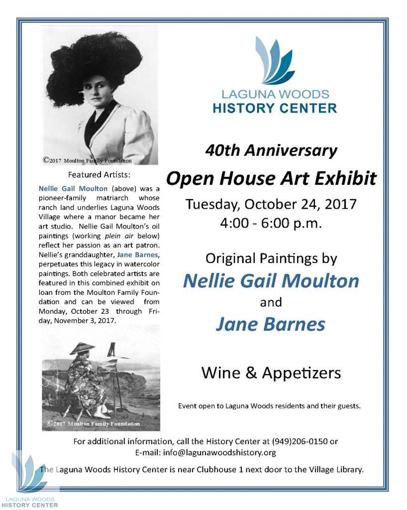 Nellie Gail Moulton and Jane Barnes Art Exhibit